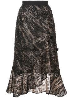 юбка с запахом и вышивкой Prabal Gurung