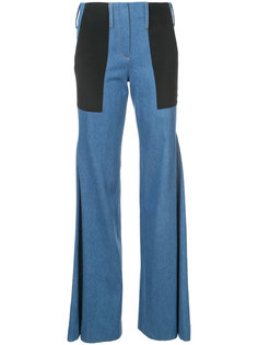 брюки клеш с заплатками Hellessy
