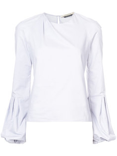 bell-sleeved poplin shirt Hellessy