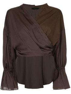 блузка с запахом с панельным дизайном Aula