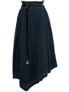асимметричная джинсовая юбка Aula