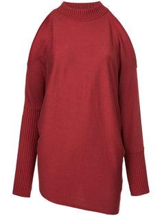 вязаный свитер с открытыми плечами Aula