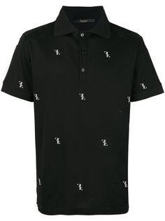 рубашка-поло с вышитым логотипом Billionaire