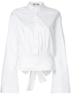 укороченная расклешенная рубашка с бантом на спине Teija