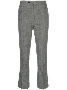 брюки с узором в ломаную клетку R13