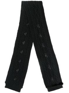 шарф с норковой окантовкой Ermanno Scervino