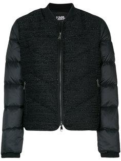 стеганая дутая куртка-бомбер из букле Karl Lagerfeld