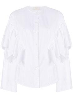 плиссированная рубашка Sara Battaglia