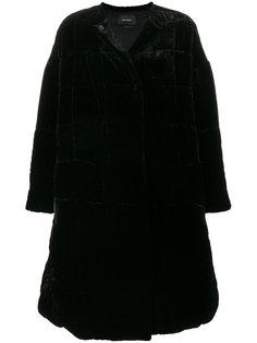 """бархатное пальто дизайна """"пэчворк"""" Isabel Marant"""