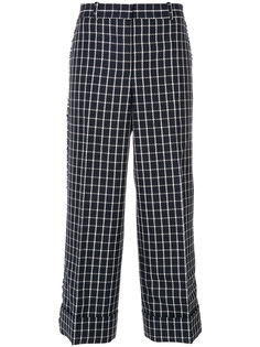 клетчатые брюки Thom Browne