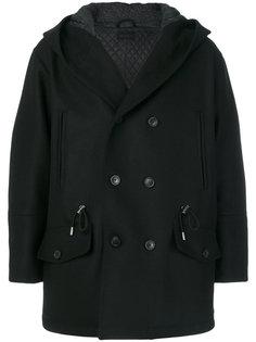двубортное пальто с капюшоном Diesel Black Gold