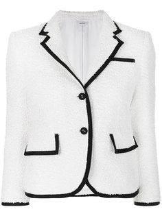 твидовый пиджак с контрастной отделкой  Thom Browne