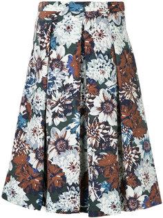 плиссированная юбка с цветочным принтом Guild Prime