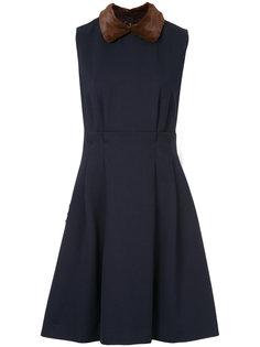 платье с воротником из искусственного меха Loveless