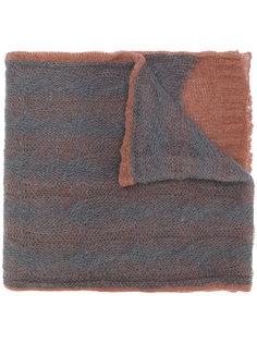 двухцветный трикотажный шарф Maison Margiela