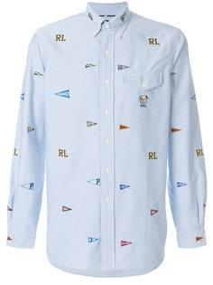 рубашка с вышивкой Polo Ralph Lauren