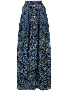 юбка макси с цветочным принтом Talbot Runhof