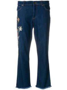 укороченные джинсы с вышитым скелетом Zadig & Voltaire