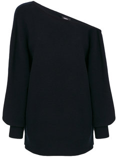 свитер на одно плечо с ребристой фактурой Theory