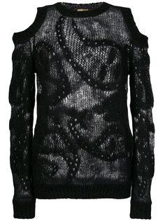 свитер с вырезными деталями Roberto Cavalli