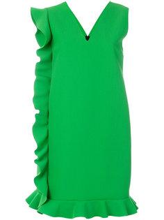 асимметричное платье шифт с оборками MSGM