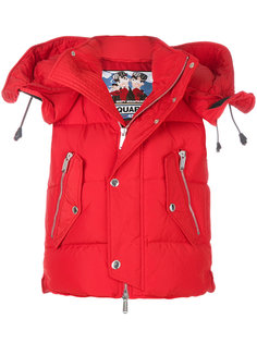 куртка с капюшоном в стиле милитари Dsquared2
