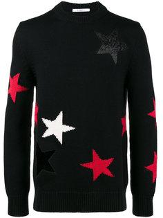 свитер с резным узором в звезды Givenchy