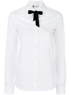 рубашка с жемчужными пуговицами и завязкой  Lanvin