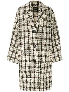 объемное твидовой пальто Isabel Marant