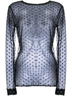прозрачная блузка в горох Dodo Bar Or