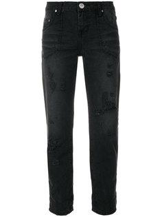 укороченные джинсы с эффектом потертости One Teaspoon