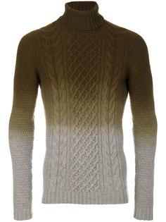 свитер вязки с косичками с тональным эффектом Drumohr