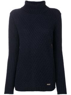 свитер с высокой горловиной в рубчик Woolrich