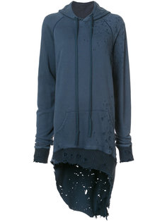 distressed oversized hoodie  Greg Lauren