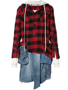 куртка-рубашка в клетку Greg Lauren