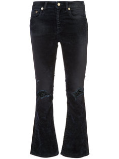 джинсы Kick Fit с бархатистым эффектом R13