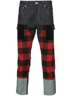 укороченные брюки с панельным дизайном Junya Watanabe Comme Des Garçons Man