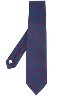 галстук с принтом пейсли Isaia