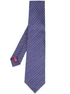 галстук в диагональную полоску Isaia