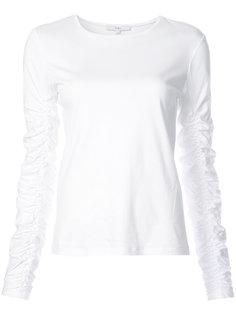 ruched sleeve T-shirt Tibi