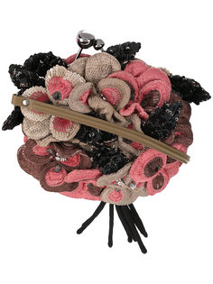 сумка с цветами с пайетками с эффектом 3D Jamin Puech
