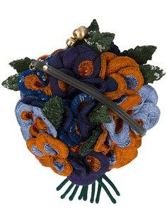 сумка с декором из объемных цветов из пайеток Jamin Puech
