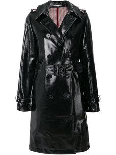 пальто-тренч с отделкой искусственной кожей  Stella McCartney