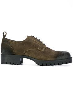 двухцветные туфли Дерби Dsquared2