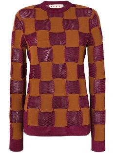 свитер в клетку  Marni