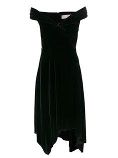 бархатное платье с открытыми плечами Peter Pilotto
