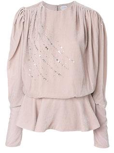 блузка с кристаллами Magda Butrym
