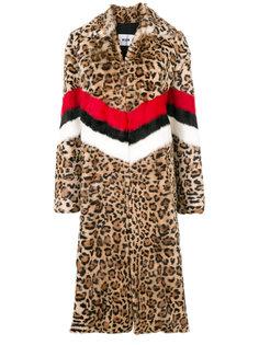 пальто с леопардовым узором MSGM