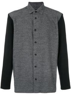 рубашка с контрастными рукавами Issey Miyake