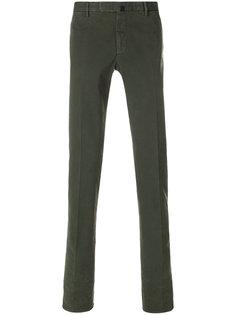 брюки-чинос узкого кроя Incotex
